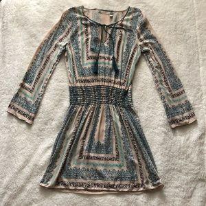 Chelsea & Violet Long Sleeve Drop Waist Dress M